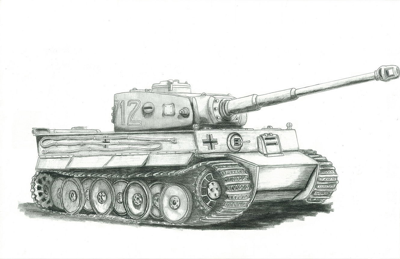 how to draw a world war 1 tank