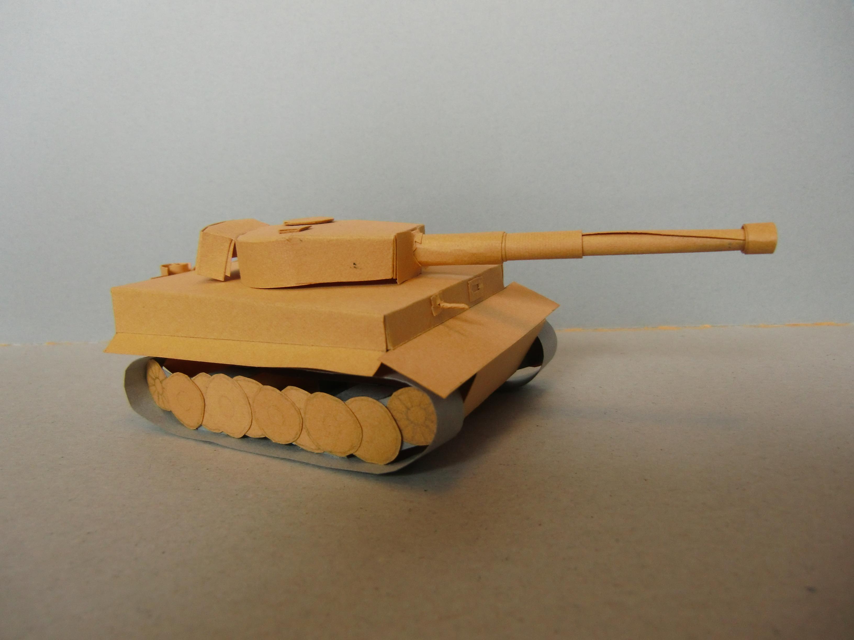 Как сделать танка тигра из бумаги своими руками