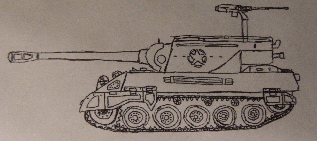 """Quick sketch of a M18 hellcat"" by 5p3rw3r"
