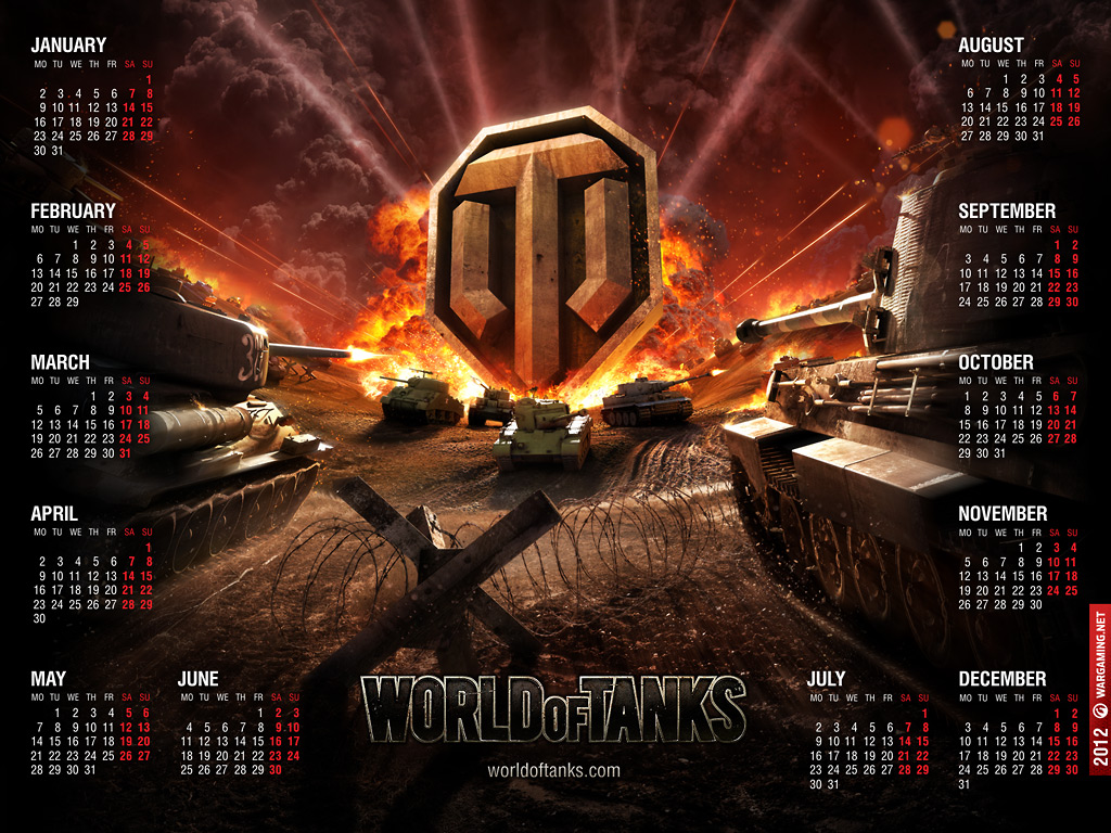 World of Tanks Calendar 2