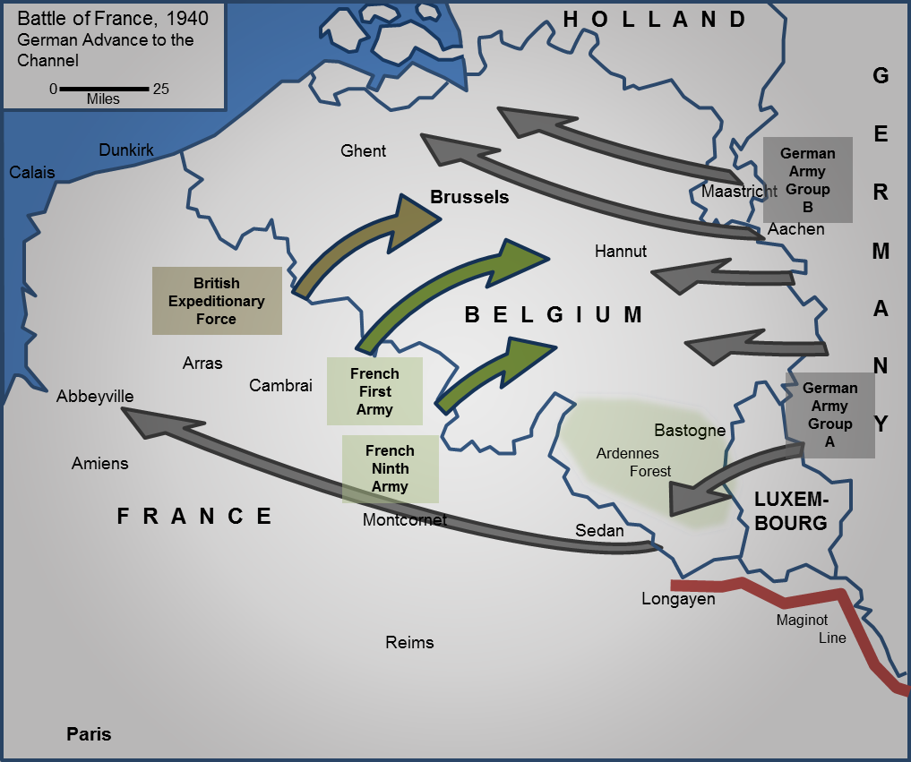 Battle Of France. MAP 2: ...